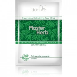 Детоксикационная маска для ног с турмалином 10шт - Master Herb TianDe,