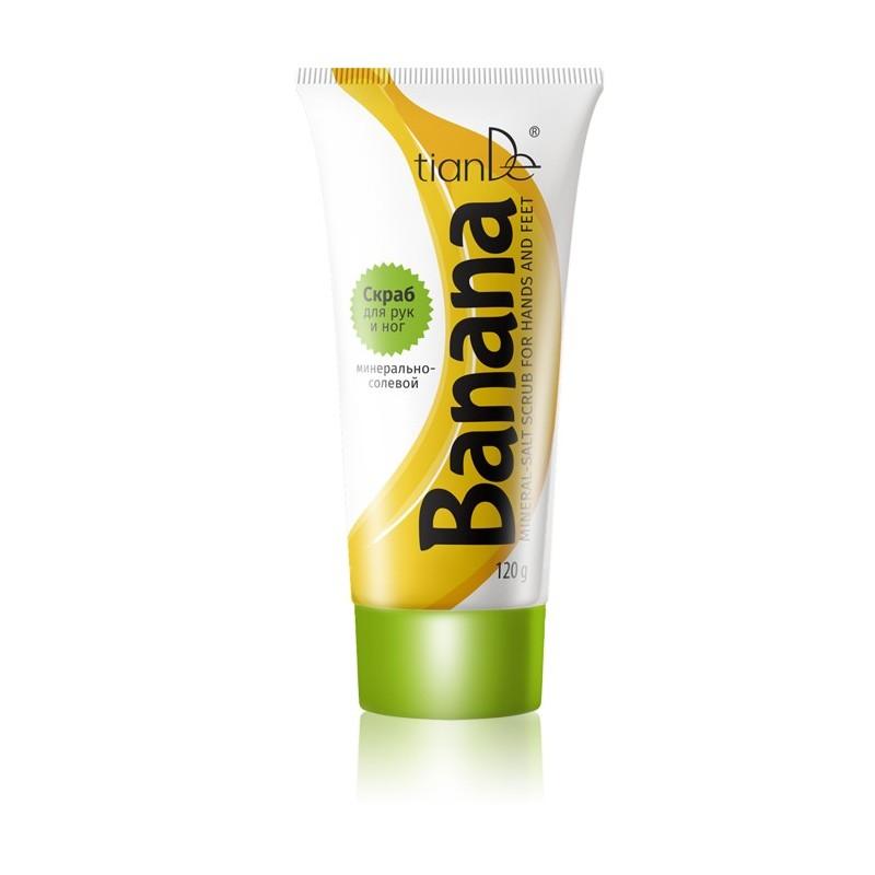 Banana Mineral-Salt Scrub for Hands and Feet, 120g