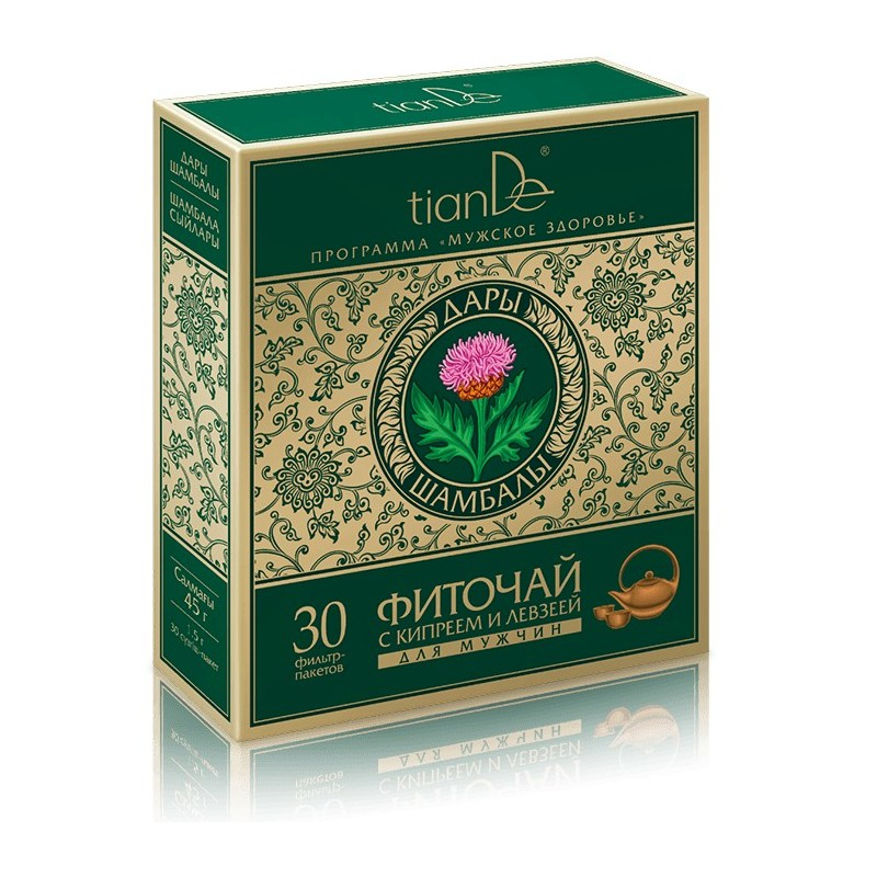 Herbal tea with epilobium and maral root for men, 30 x 1,5g
