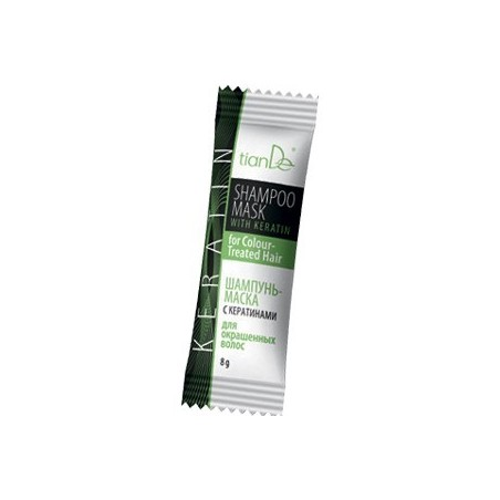 Shampoo mask with keratin for colored hair - 8g