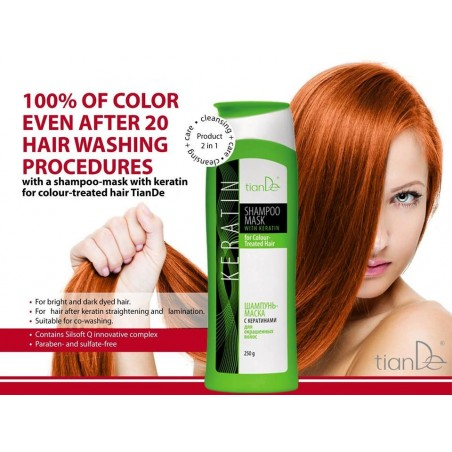 Shampoo mask with keratins for colored hair