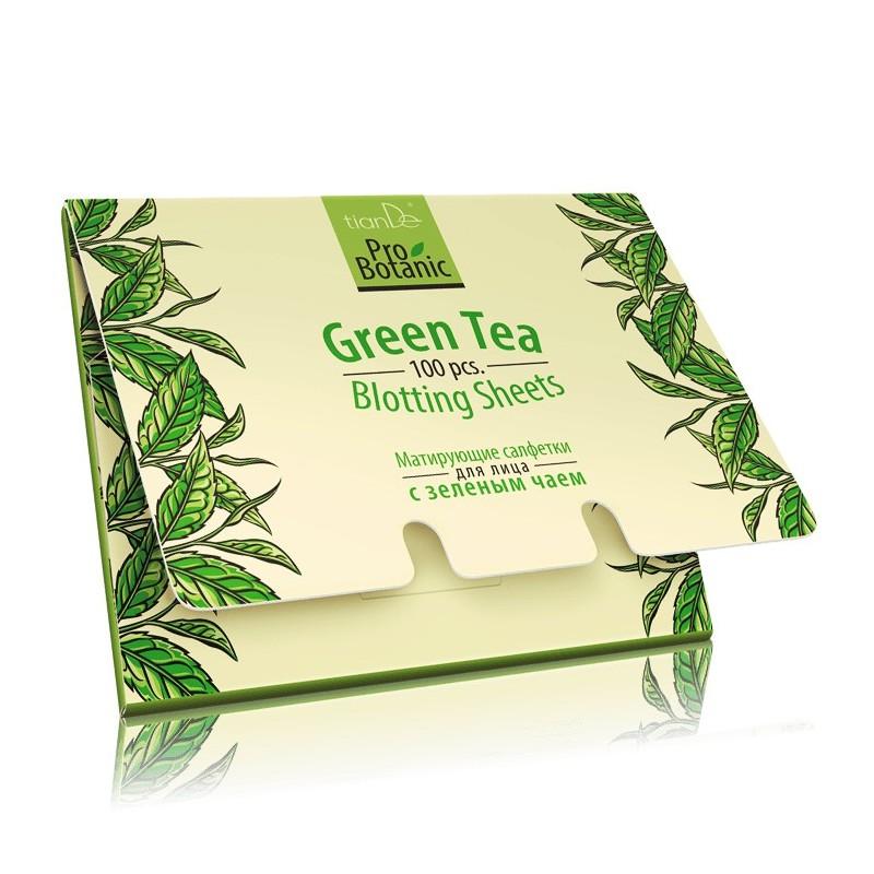 Green Tea Blotting Sheets 100 pcs