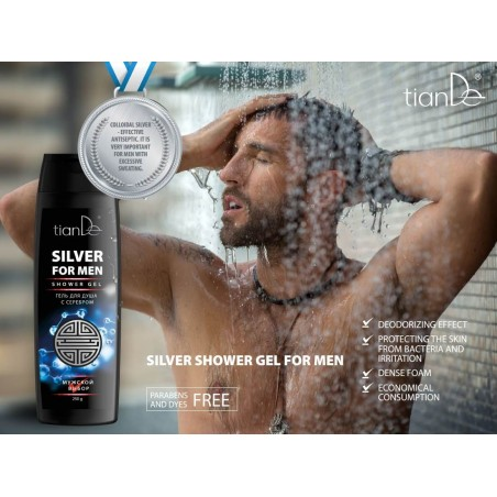 Men's shower gel with silver 250g