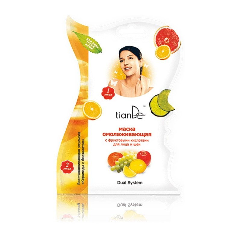Rejuvenating Face and Neck Mask with Fruity Acids