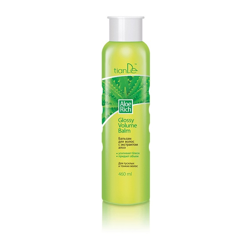 Hair balm Aloe Rich Glossy Volume, 460ml