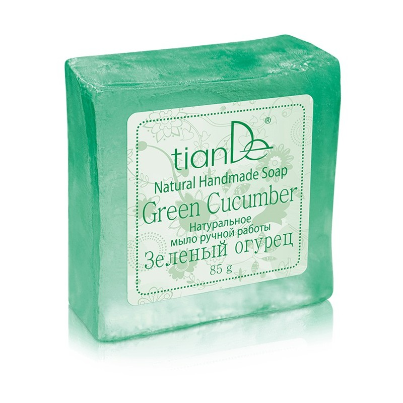 Natural Handmade Soap Green Cucumber, 85g