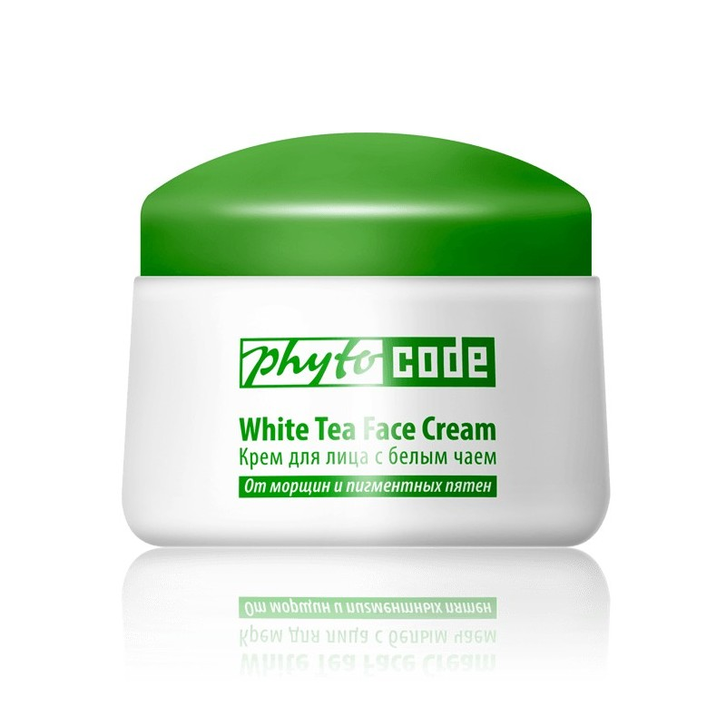 Face cream with white tea Anti-aging care and UF protection