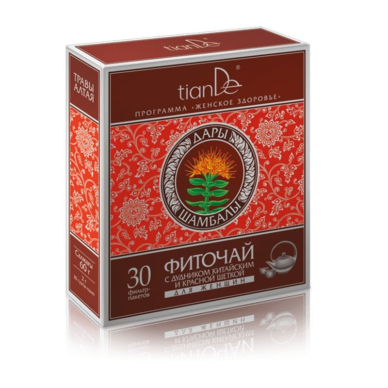 The herbs contained in the herbal mixture help normalize the hormonal levels of the female body. tiande 123912