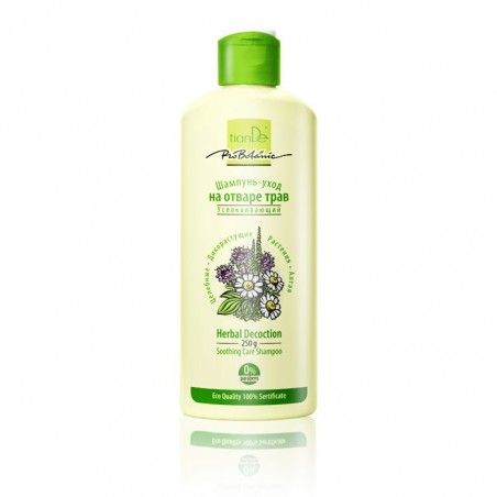 Łagodzący i pielęgnujący szampon z wyciągu ziołowego. 250g
