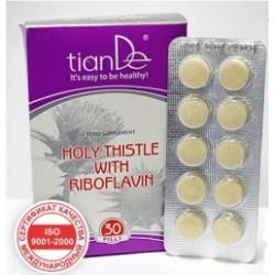 Kompleks funkcjonalny Ostropest z ryboflawiną TianDe 30 tabletek