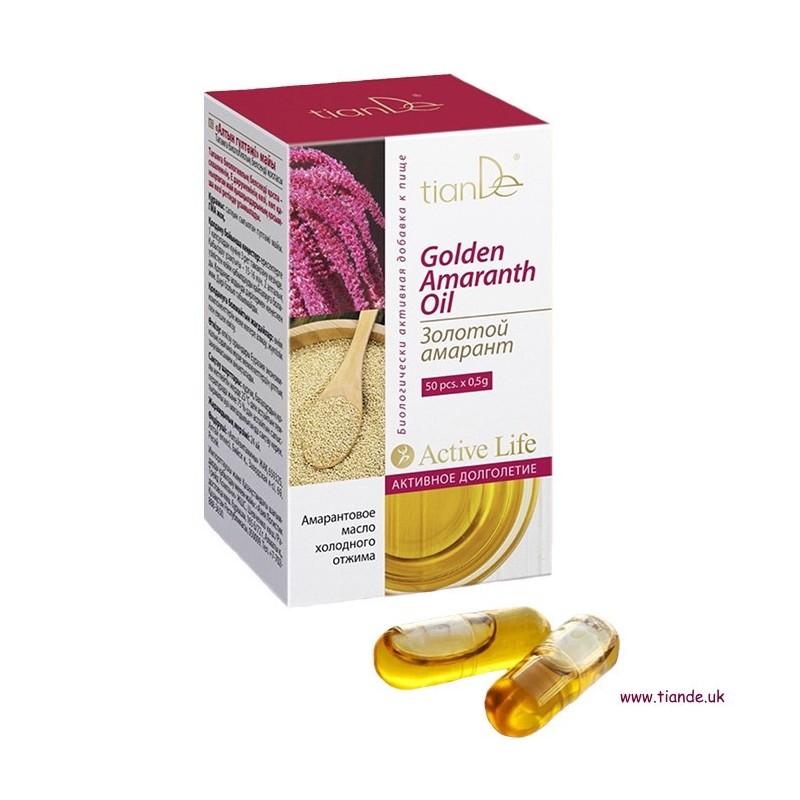 Golden Amaranth Oil Food Supplement, 50 cap