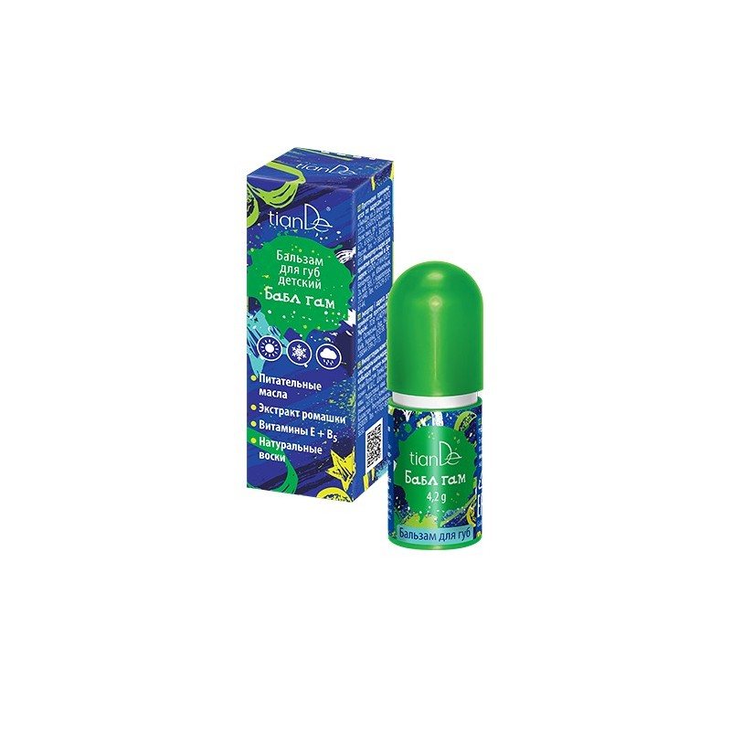 Bubble Gum Lip Balm for Children, 4,2g