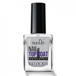 Matte Effect Nail Top Coat, 10ml