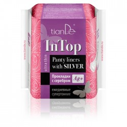Panty liners with silver, ultra thin, 20szt