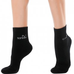 Cotton Socks with Tourmaline Spot Coating, 1pair, Size: 22 cm