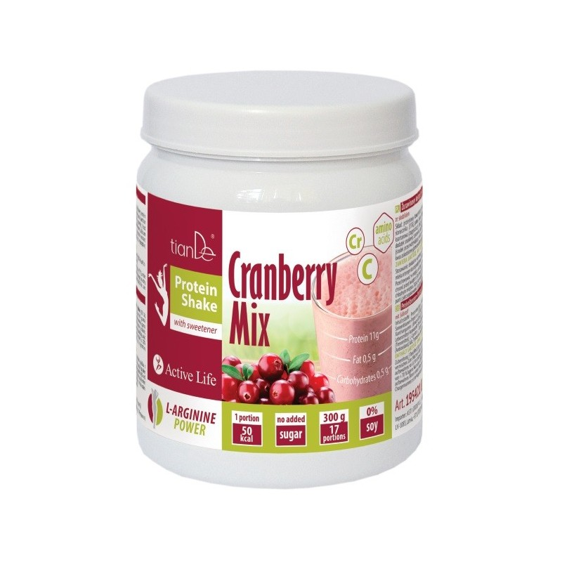 Cranberry Mix Protein Shake with sweetener