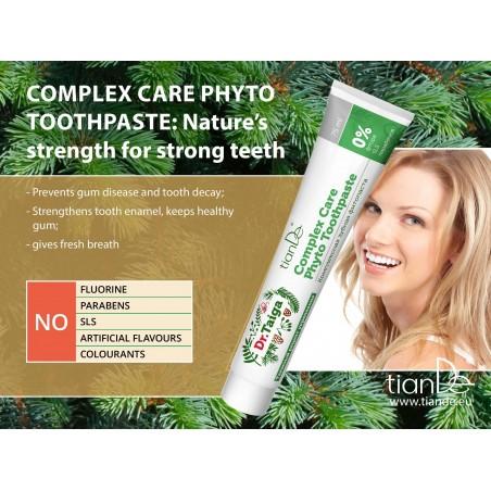 Kompleksinė dantų fito-pasta 75 ml.