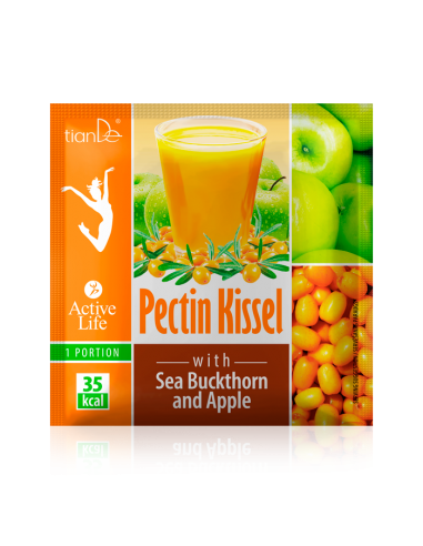 Pectin Kissel with Sea-Buckthorn and Apple