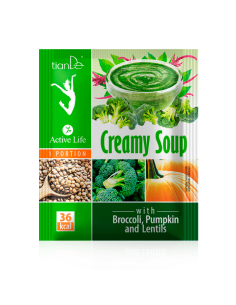 Cream Soup with Broccoli, Pumpkin and Lentils