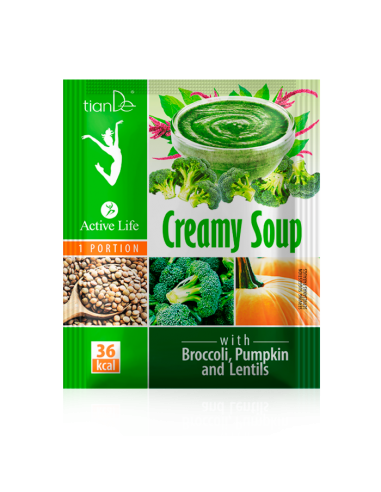 Cream Soup with Broccoli, Pumpkin and...