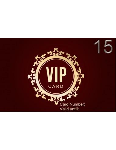 VIP 15 Discount card