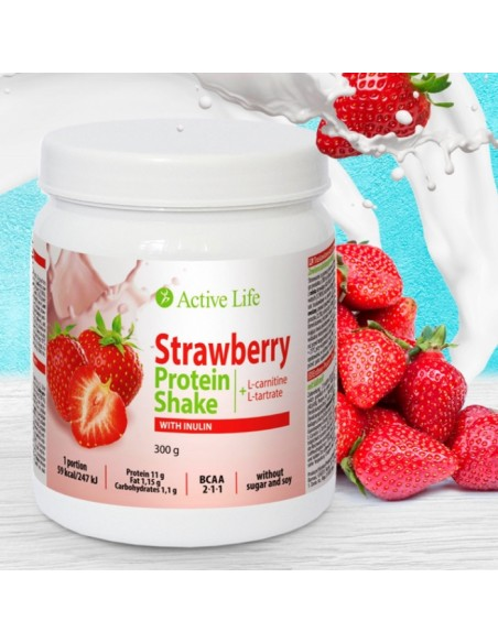 Protein strawberry cocktail with inulin