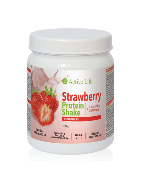 Protein Strawberry Cocktail With Inulin, 300g | Tiande